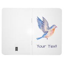 Personalized Watercolor Blue Bird Journal