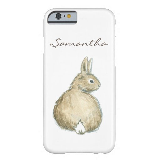 Personalized Watercolor Bunny iPhone 6 Case