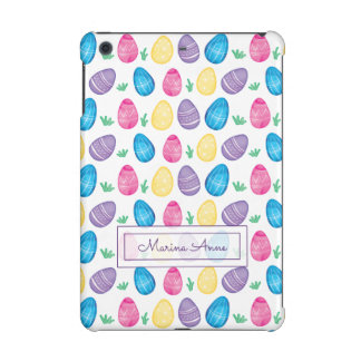 Personalized Watercolor Easter Egg Pattern iPad Mini Retina Cover