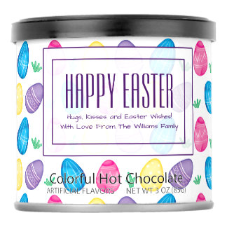 Personalized Watercolor Easter Egg Pattern Powdered Drink Mix