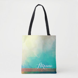 Personalized Watercolor Picket Fence Tote Bag