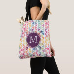 "Personalized Watercolor Triangle Pattern Tote<br><div class=""desc"">This tote features a watercolor triangle pattern with two arrows along with a place for personalizing to make it your own.</div>"