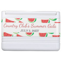 Personalized Watermelon Pattern Summer Party Drink Cooler