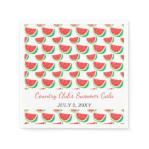 Personalized Watermelon Pattern Summer Party Napkin