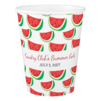 Personalized Watermelon Pattern Summer Party Paper Cup