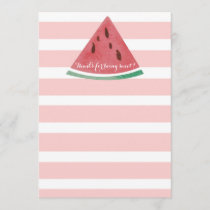 Personalized Watermelon Thank You Card