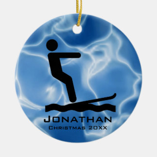 Personalized Waterskiing Ornament