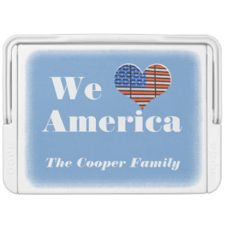 Personalized We Love America Igloo Cooler