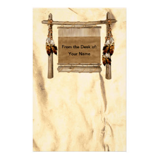 Personalized Weaving Loom Native American  Station Stationery