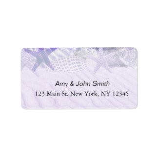 Personalized wedding address labels