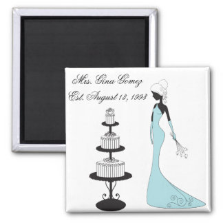 Personalized Wedding Anniversary Engagement Magnet