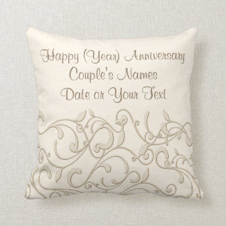 Personalized Wedding Anniversary Gift by the Year Throw Pillow