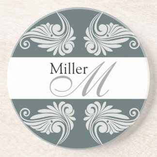 Personalized  Wedding Anniversary Monogram Drink Coasters