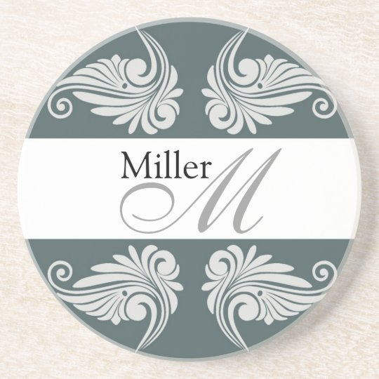 Personalized  Wedding Anniversary Monogram Coaster