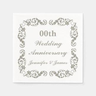 Personalized Wedding Anniversary Napkin