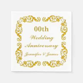 Personalized Wedding Anniversary Napkin Disposable Napkins