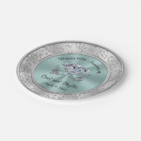 Personalized Wedding Anniversary Paper Plates