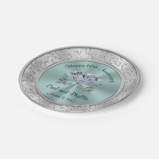 Personalized Wedding Anniversary Paper Plates at Zazzle