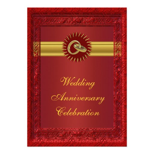 Personalized Wedding Anniversary Party Invitation