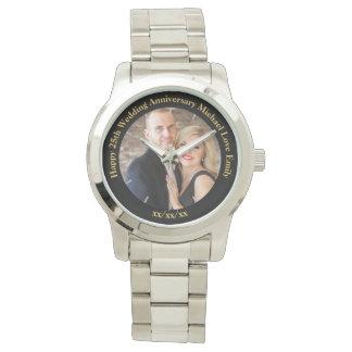 Personalized Wedding Anniversary PHOTO Custom Him Wrist Watch