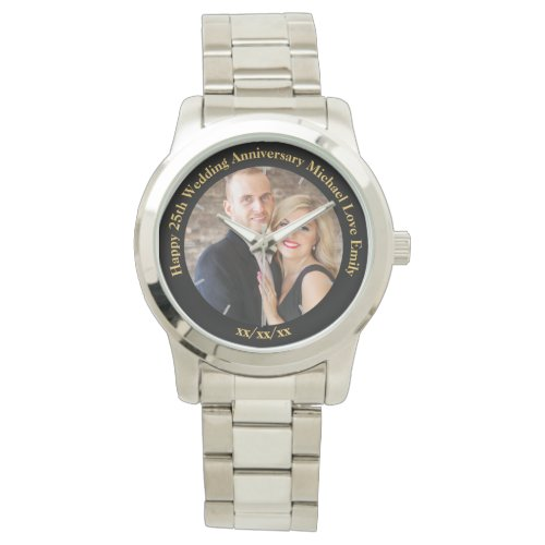 Personalized Wedding Anniversary PHOTO Custom Him Wrist Watch