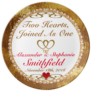 Personalized Wedding / Anniversary Porcelain Plate