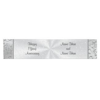 Personalized Wedding Anniversary Table Decorations Short Table Runner