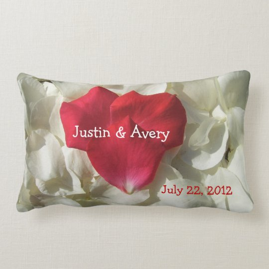 personalized wedding anniversary throw pillow