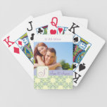 Personalized Wedding Bicycle Card Deck