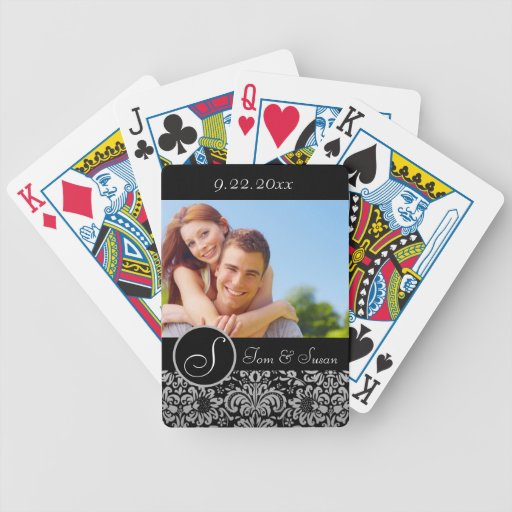 Personalized Wedding Bicycle Playing Cards