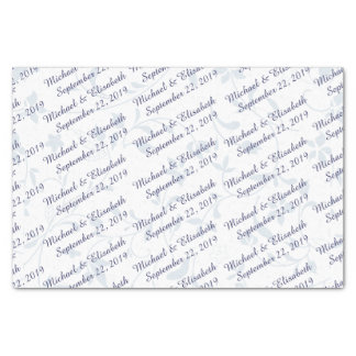"""Personalized Wedding - Blue 10"""" X 15"""" Tissue Paper"""