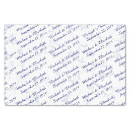 Personalized Wedding - Blue Tissue Paper