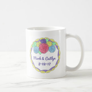 Personalized Wedding Cake Anniversary Engagement Coffee Mug