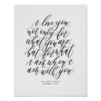 Personalized Wedding Calligraphy Love Quote Sign