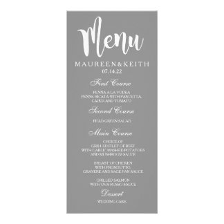 Personalized Wedding Dinner Menu Card