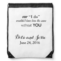 Personalized Wedding Drawstring Backpack