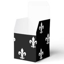 Personalized wedding favor box | fleur de lis