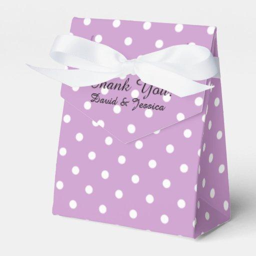 Personalized Wedding Favor Box Lavender Purple Zazzle
