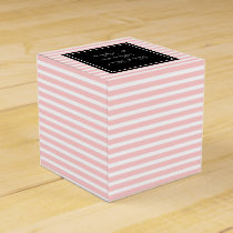 Personalized wedding favor boxes | pastel pink