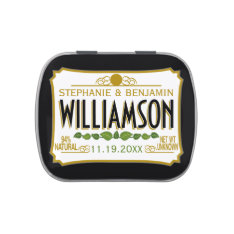 Personalized Wedding Favor - Bride Groom Name Date Jelly Belly Tin at Zazzle