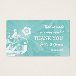 Personalized Wedding Favor Gift Tags- Aqua Green Business Card