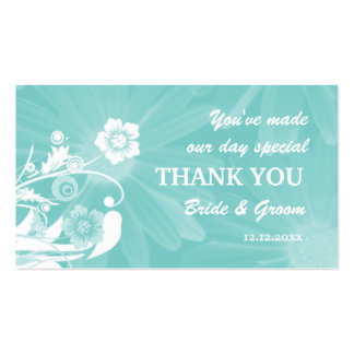 Personalized Wedding Favor Gift Tags- Aqua Green Business Card Templates