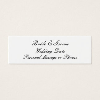 Personalized Wedding Favor Tag Template