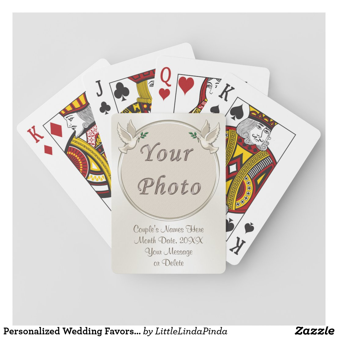 Personalized Wedding Favors for Guests Playing Cards