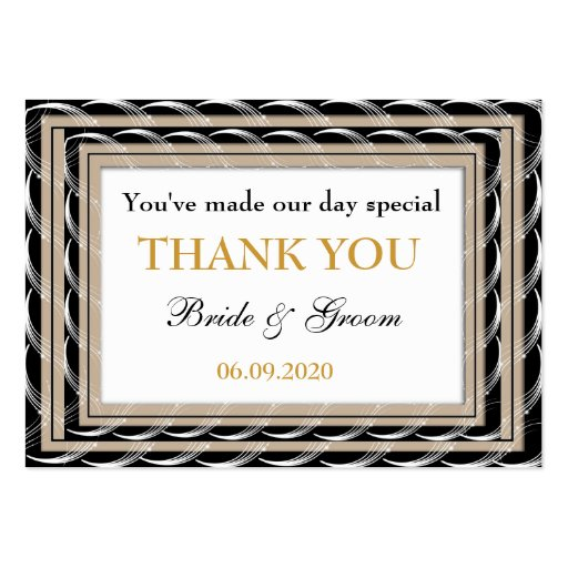 Wedding Gift Thank You Cards Pack : ... Wedding Favors Thank You Gift Tags Large Business Cards (Pack Of 100