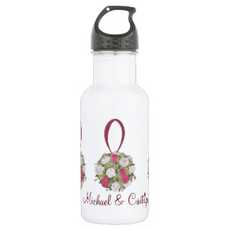 Personalized Wedding Flower Bouquet Favor Bottle