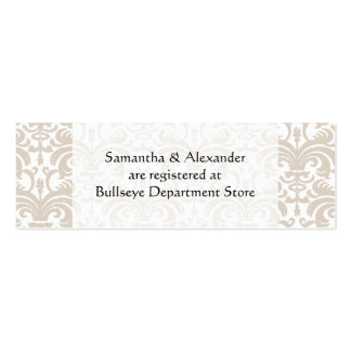 Personalized Wedding Gift Registry Cards Insert