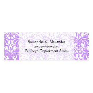 Personalized Wedding Gift Registry Cards Insert Double-Sided Mini Business Cards (Pack Of 20)