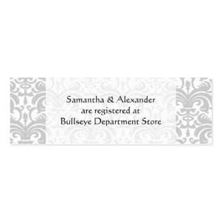 Personalized Wedding Gift Registry Cards Insert Mini Business Card