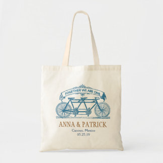 Personalized Wedding Gift Tandem Bicycle Tote Bag